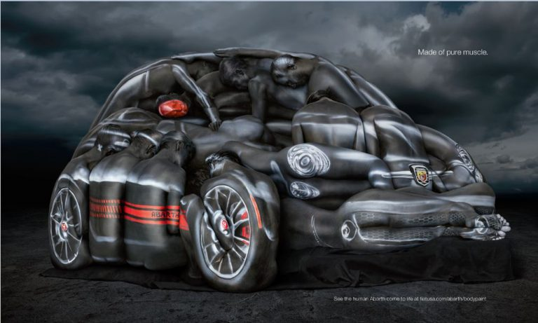 Human bodies to build an Abarth