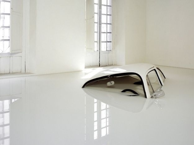 VW Beetle Sunk in Milk
