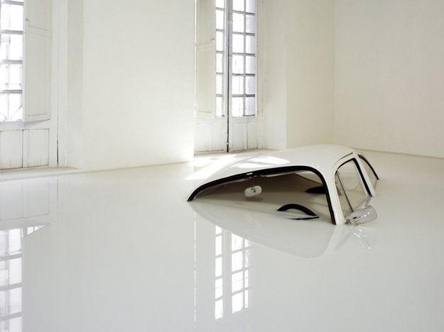 VW Beetle Sunk in Milk