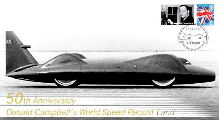 Donald John Campbell sets World Speed Record